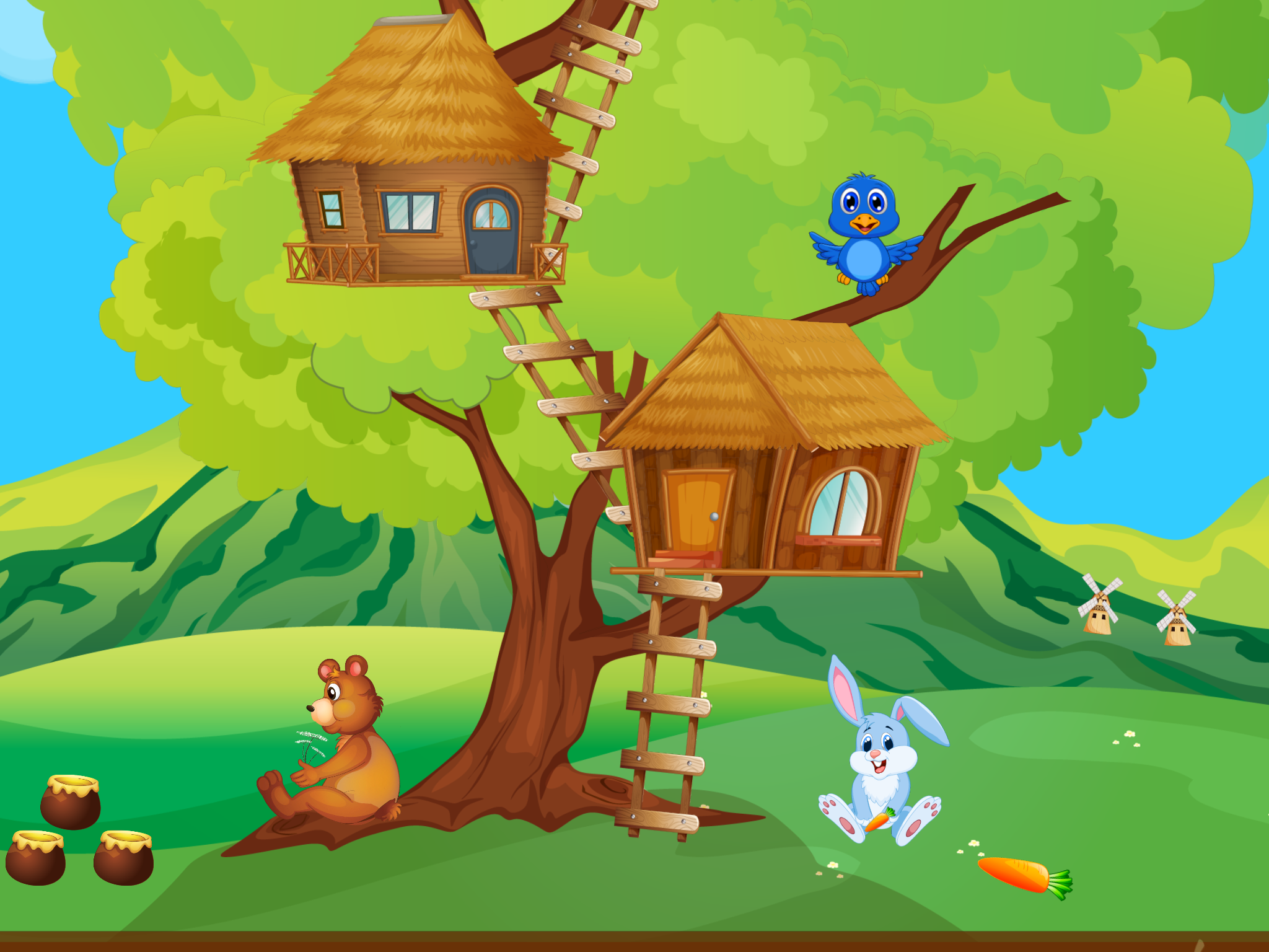 Tree House Learning Game For Toddles And Preschool Kids